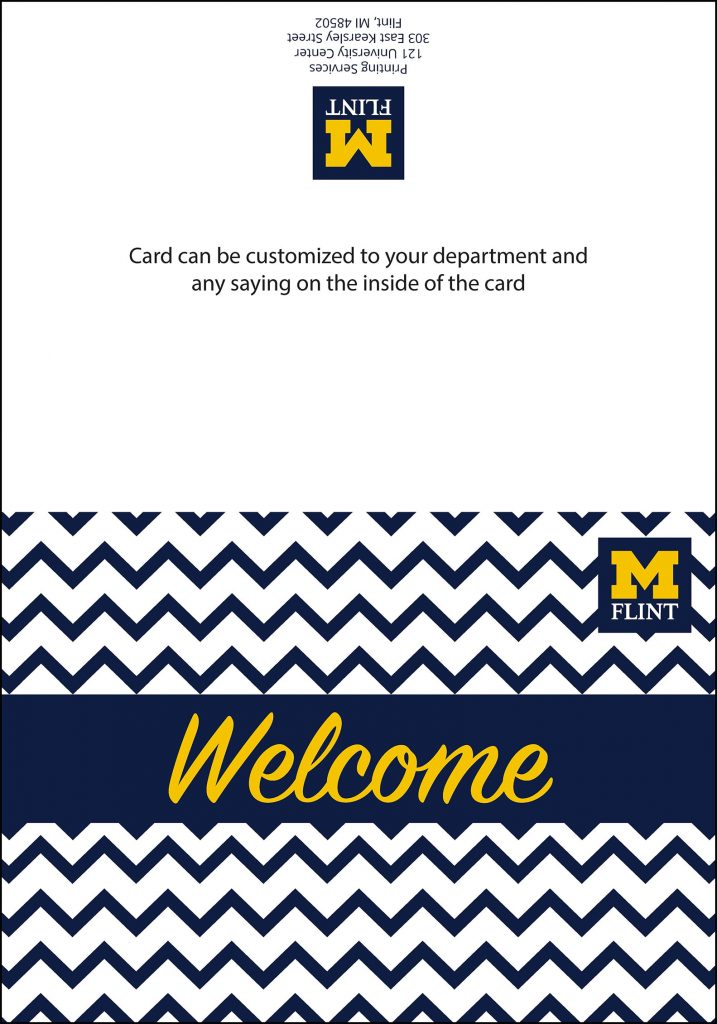 Sample of welcome card
