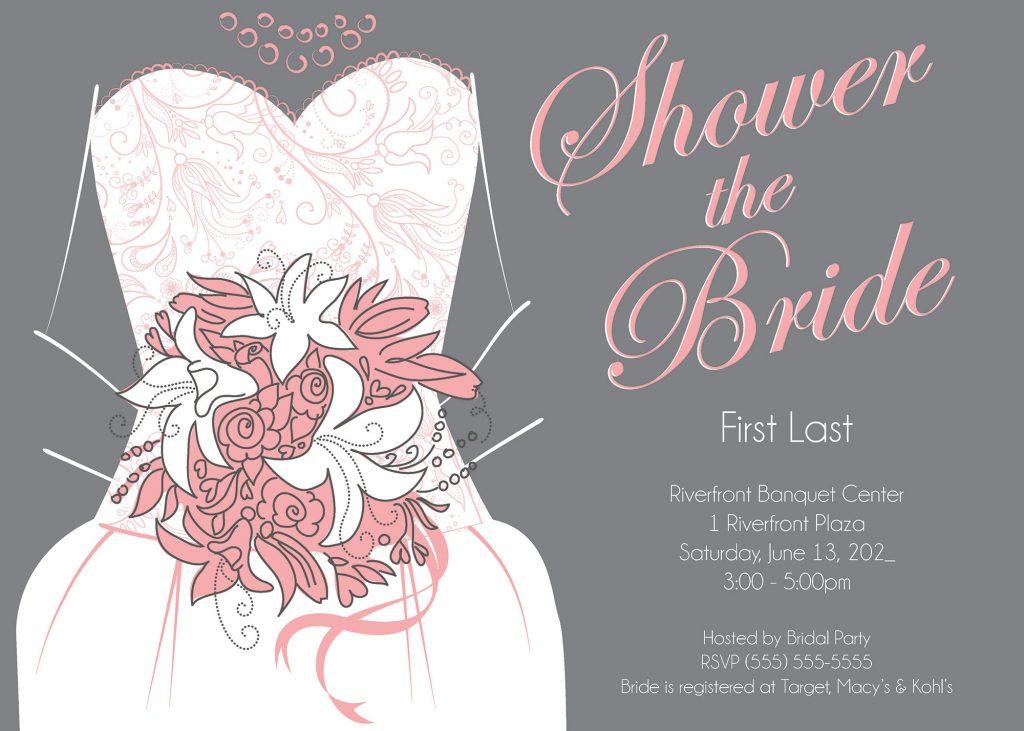 Sample bridal shower invite