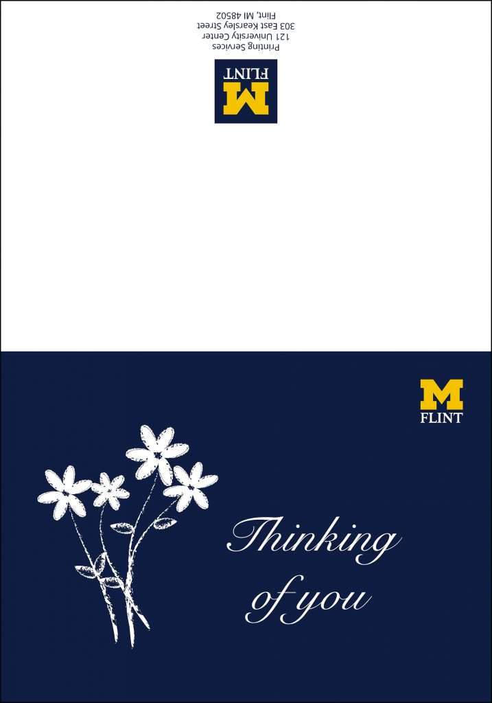 Sample of thinking of you card
