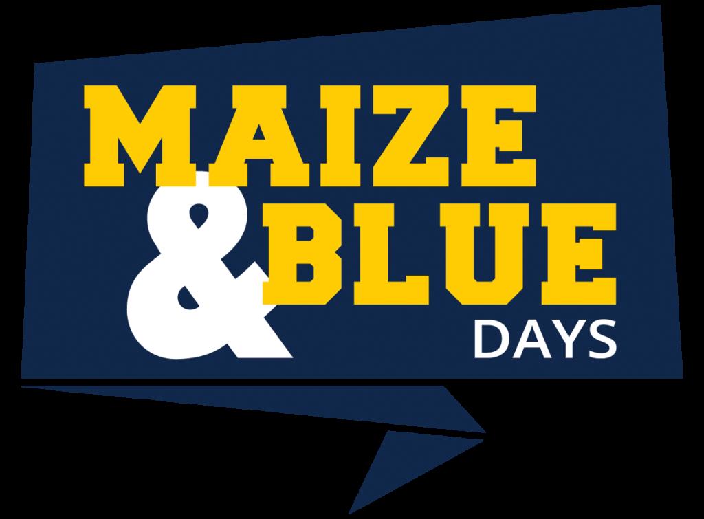 Maize & Blue Days logo