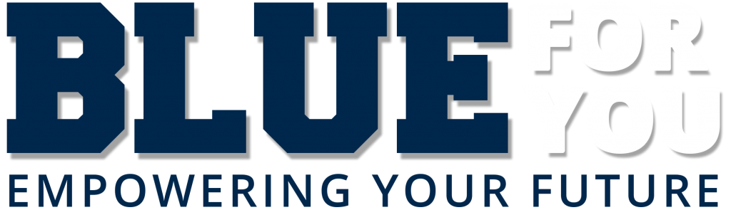 Blue for You Empowering your Future graphic