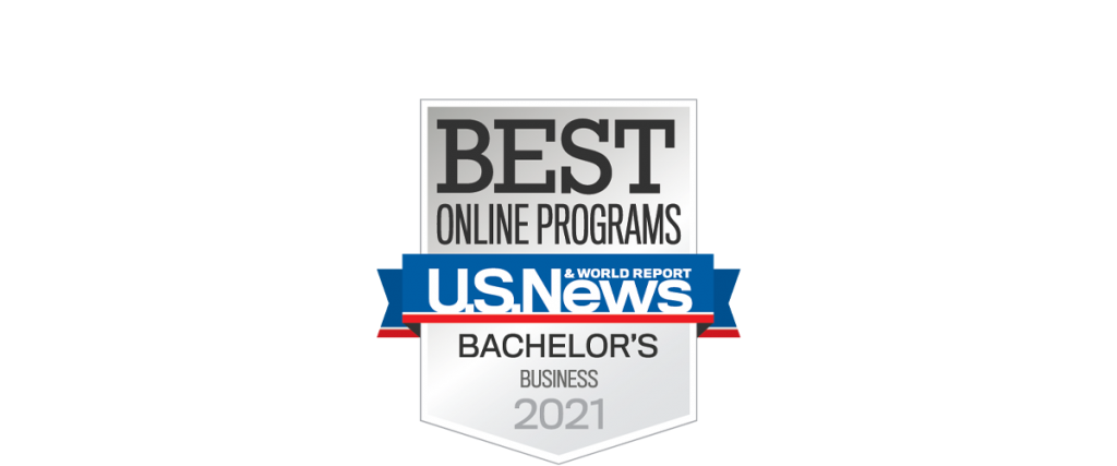 Best Online Programs U.S. News & World Report Bachelor's Business 2021 logo