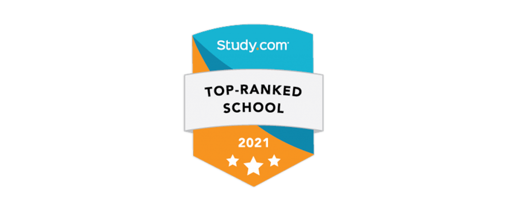 Study.com Top Ranked School 2021