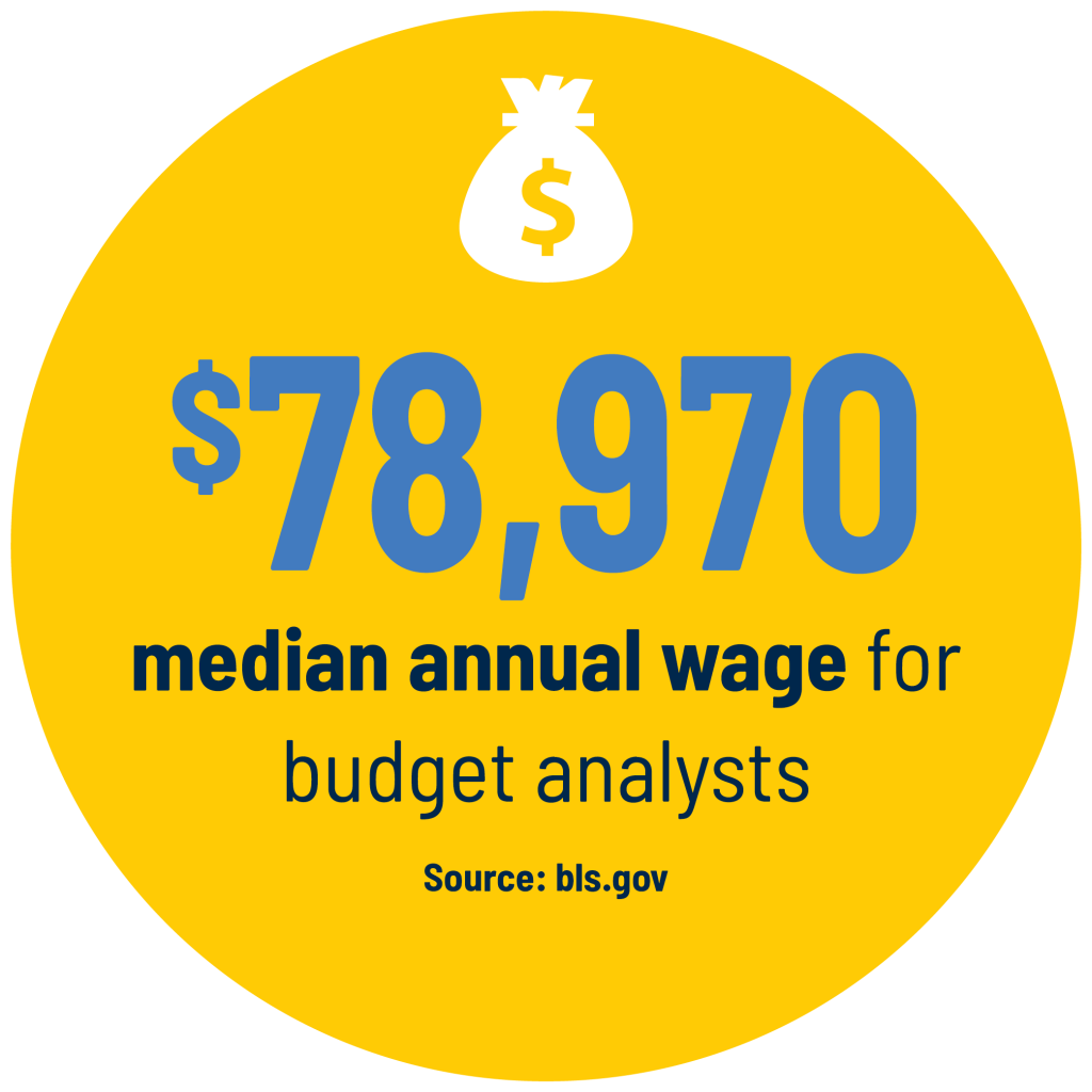 $78,970 median annual wage for budget analysts Source: bls.gov