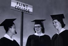 Students at Flint College graduation