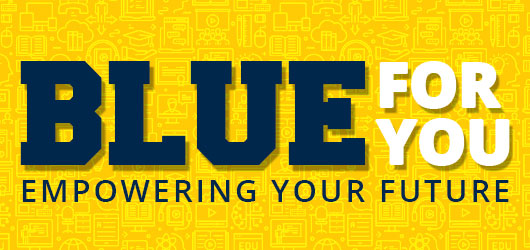 Blue For You Empowering Your Future graphic.