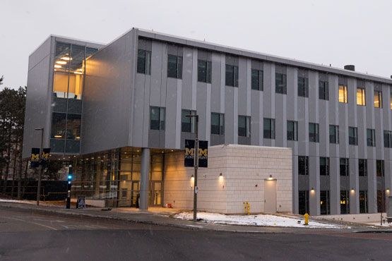 Exterior view of the University of Michigan-Flint William R. Murchie Science Building.