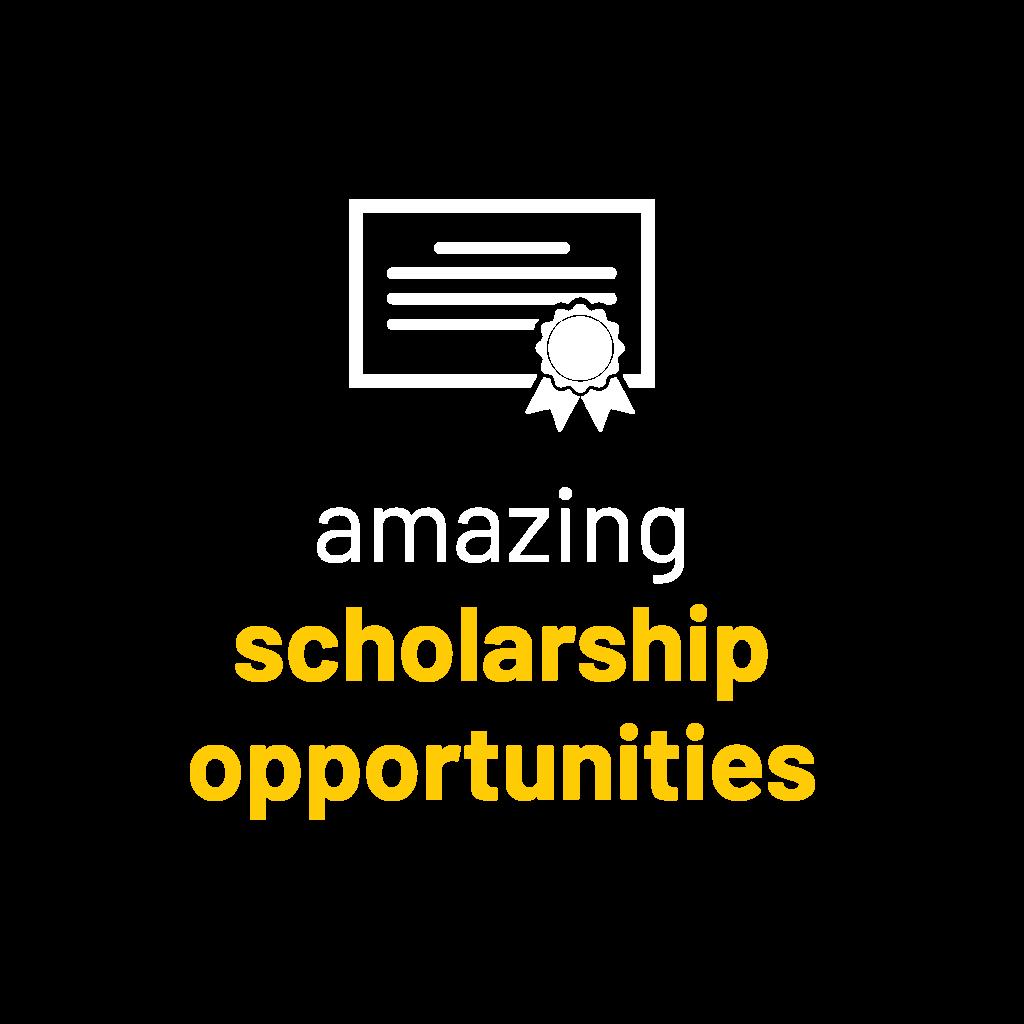Amazing scholarship opportunities graphic.