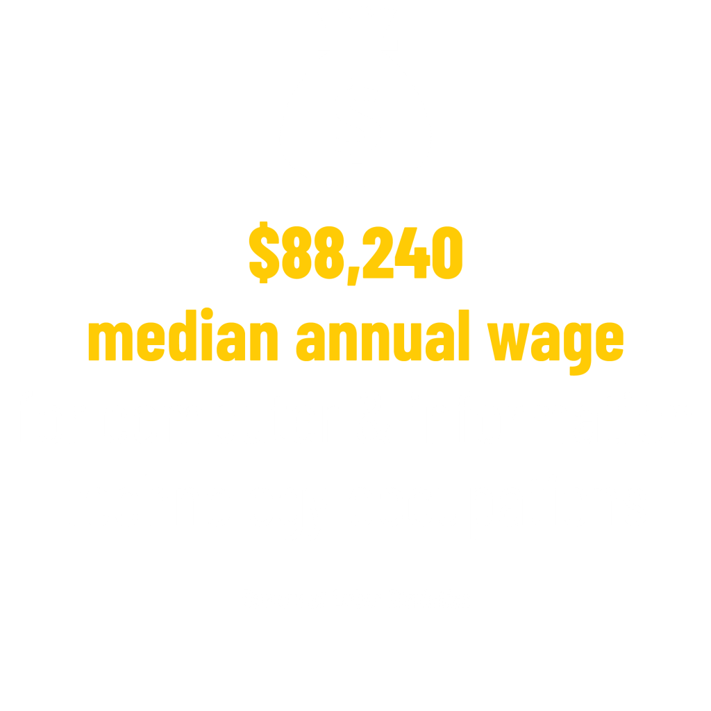 $88,240 median annual wage for computer & information technology occupations stat. Bureau of Labor Statistics