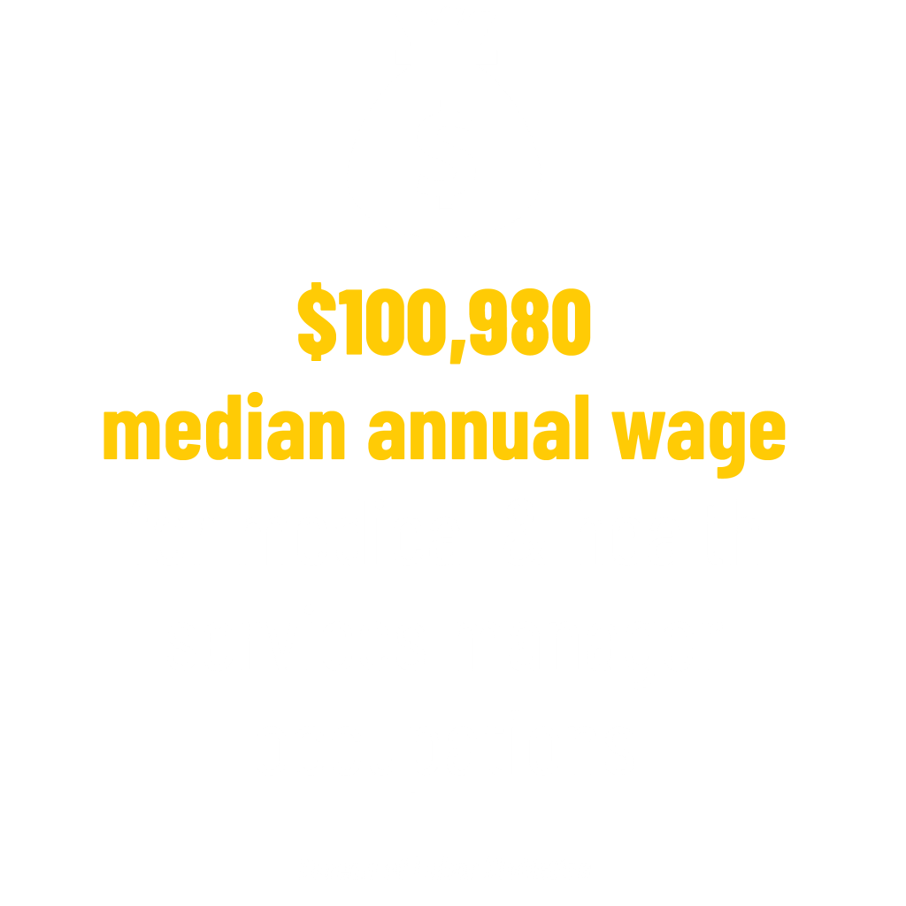 $100,980 median annual wage for medical & health services manager occupations stat. Bureau of Labor Statistics