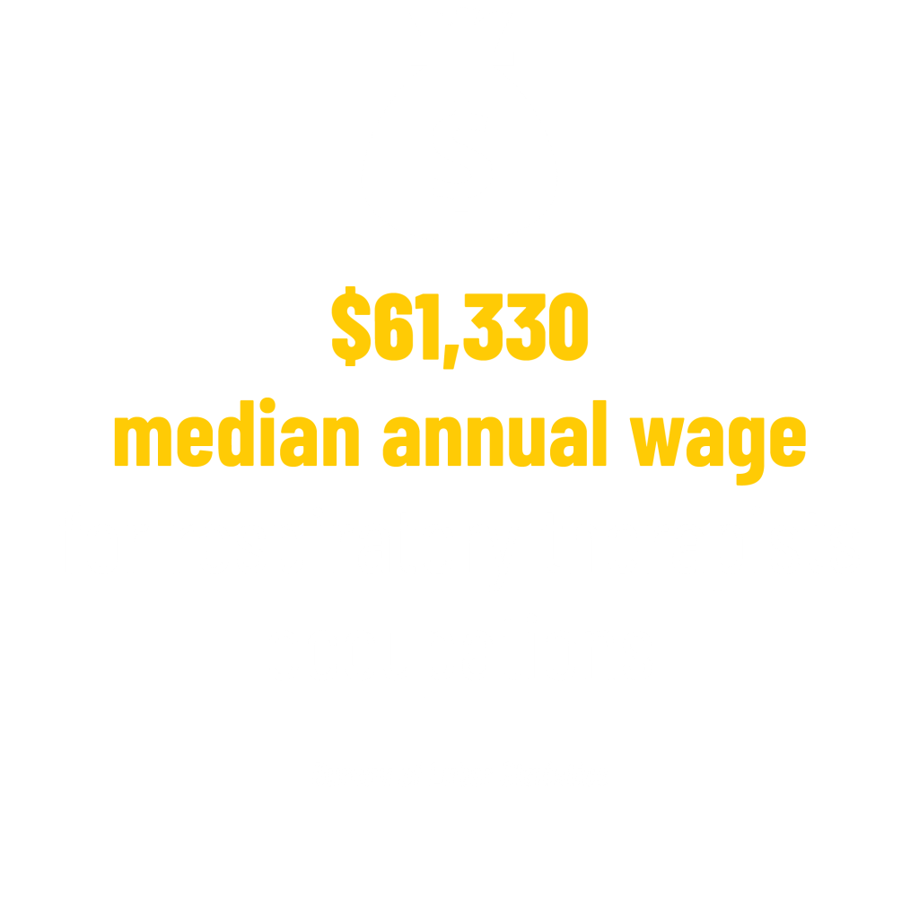 $61,330 median annual wage for respiratory therapists occupations stat. Bureau of Labor Statistics