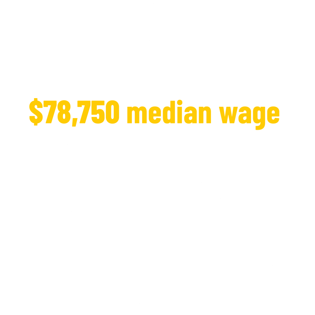 $78,750 median wage for supply chain occupations, 24% higher than the national median salary stat. Association For Supply Chain Management
