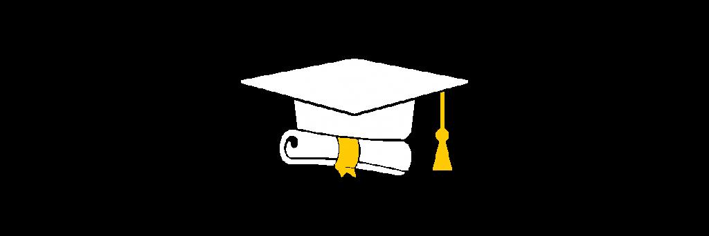 Graduation cap and diploma graphic